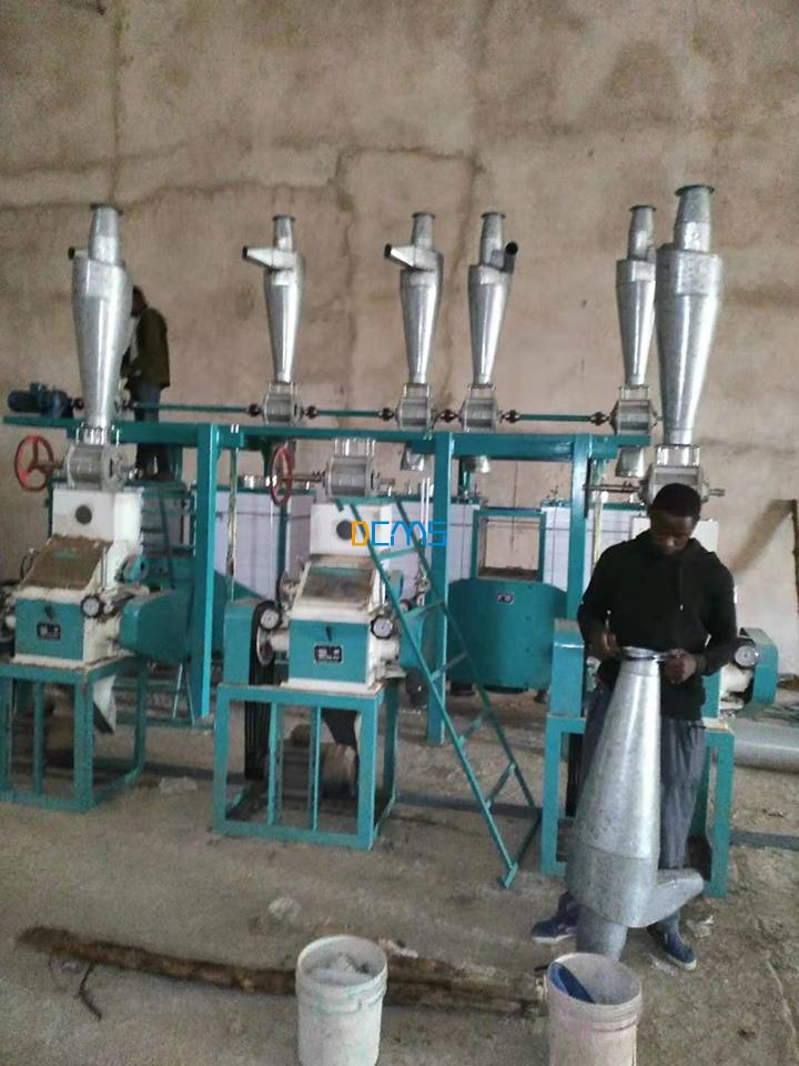 20t maize mill installing in Tanzania