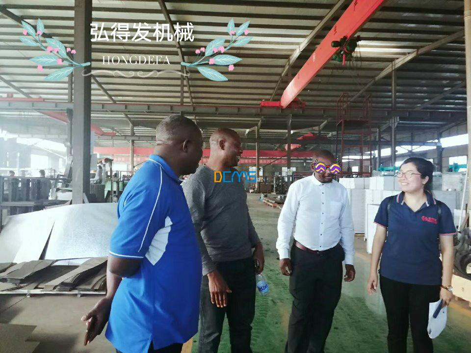 Client visit Hongdefa Machinery