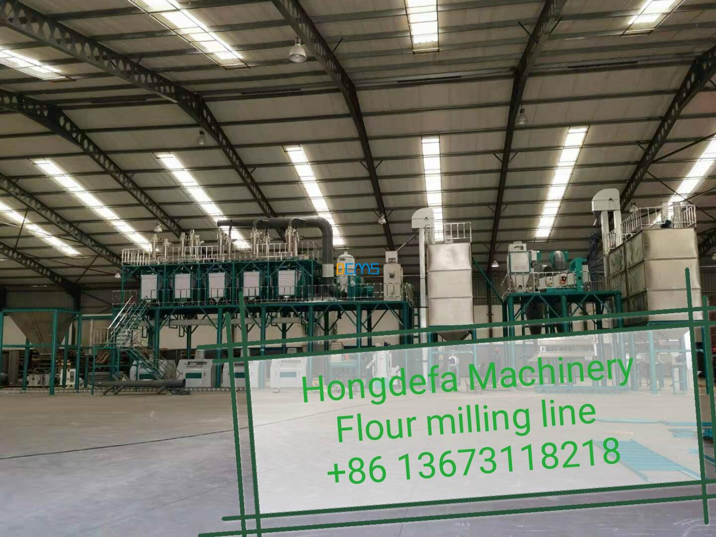 Congrat:100t flour mill with silo