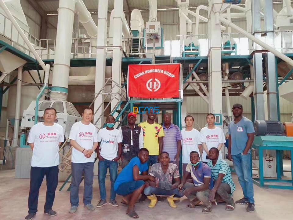 Congratulations for the 100T/24h maize mill project successful commissioning in Africa!