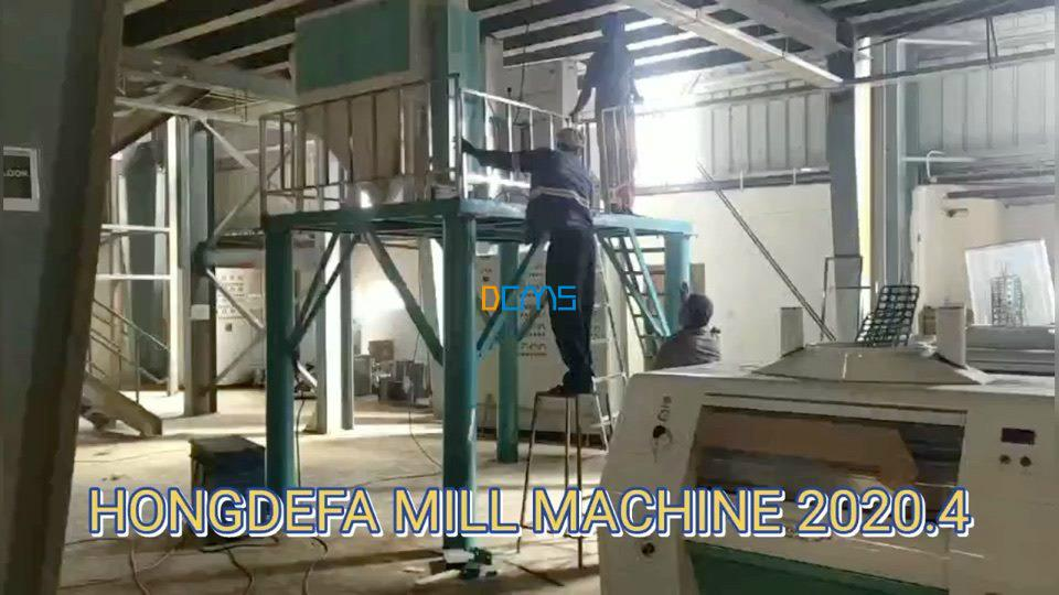 150T flour milling machine installing in Africa now​